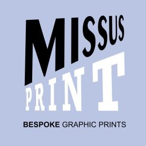 missus print logo for gravatar baby blue