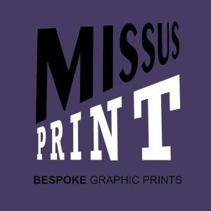 missus print logo for gravatar orient blue